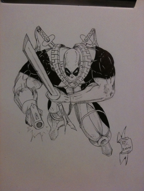 inked pencil drawing . wanted h - mtrx2010 | ello