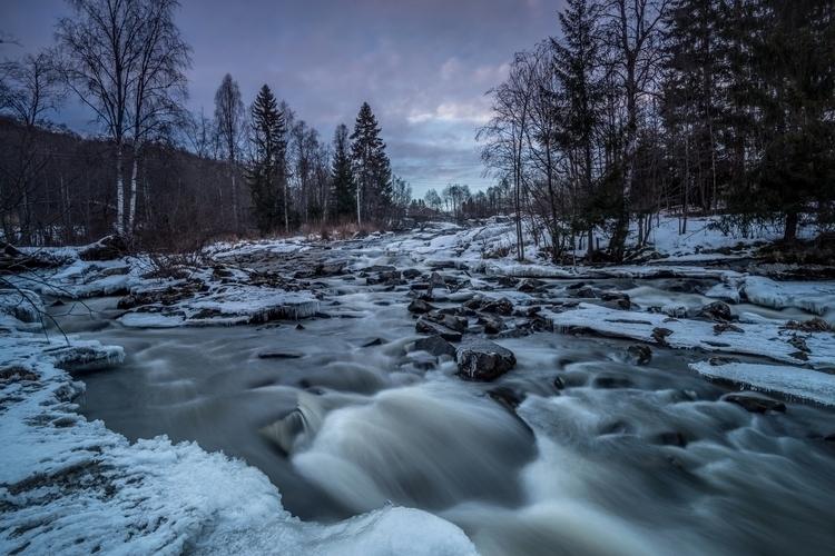 Winter river - landscape, sony - haakondagestad | ello