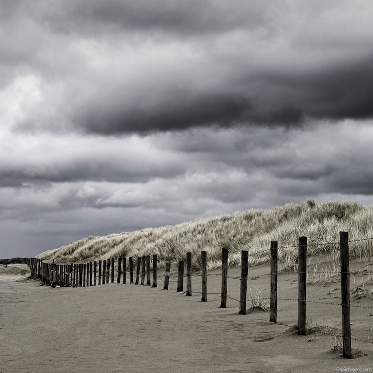 Windy day blown beach - Scheveningen - erik_schepers | ello