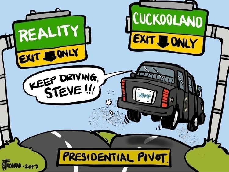 Presidential Pivot - illustration, - sstoddard | ello