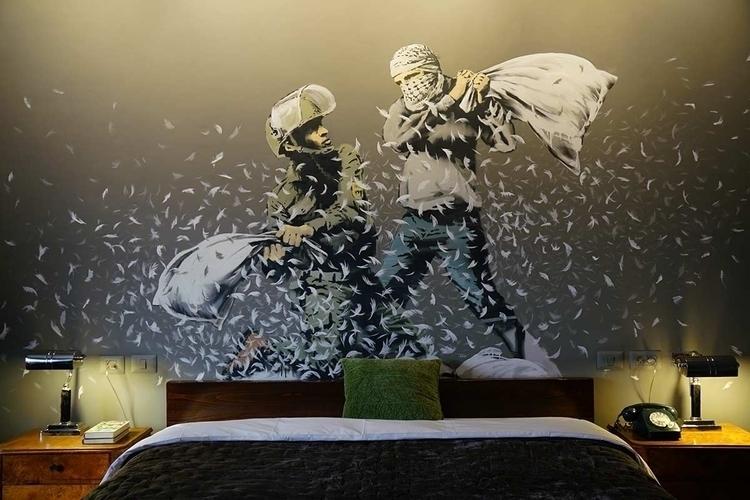 "Banksy Walled Hotel"" Bethlehem - banksy | ello"