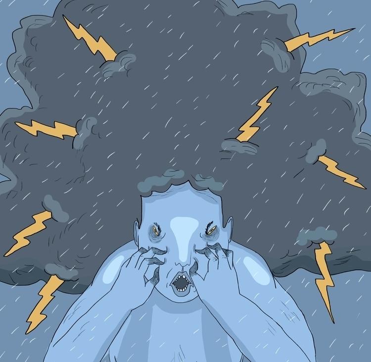 Angry - art, illustration, lowbrow - missjaws | ello