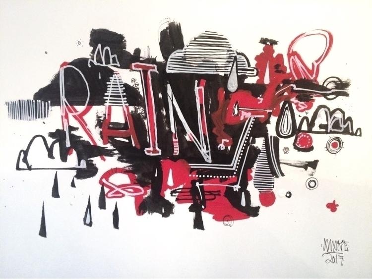 rain 5x8 Paint ink - awake_pdx | ello