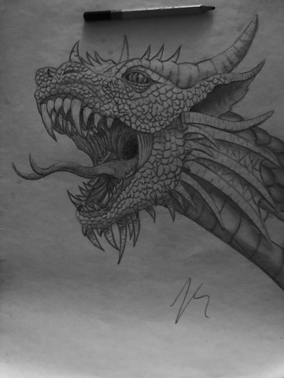 Dragon - art - pencilsandbrushes98 | ello