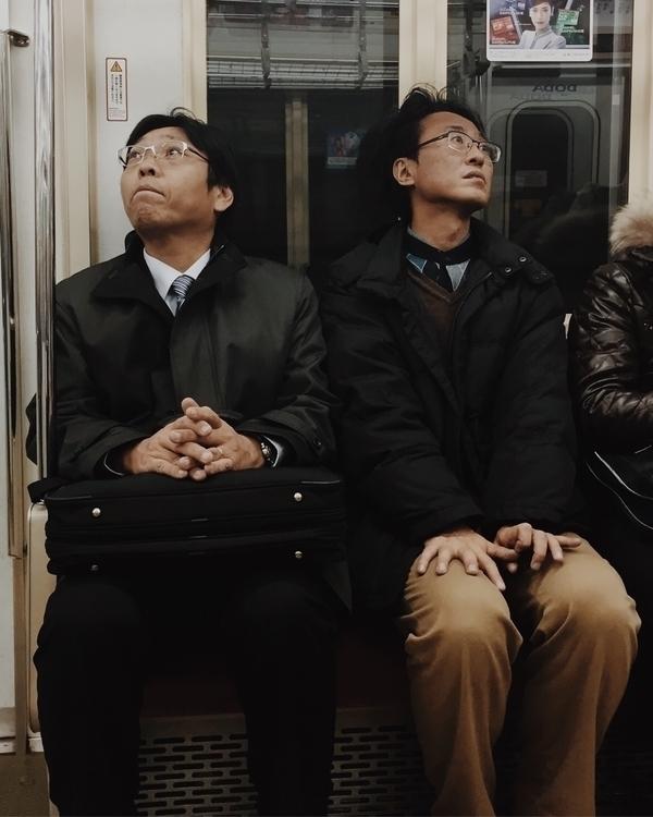 Perfect strangers. Tokyo train  - jamesjean   ello