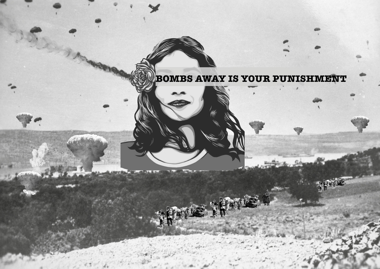 BOMBS Collage Inspired Green ly - mariaparasphoto | ello