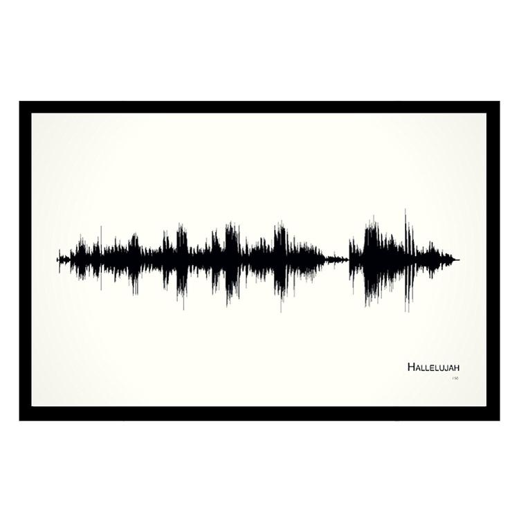 Hallelujah - 11x17 Framed Sound - unary | ello
