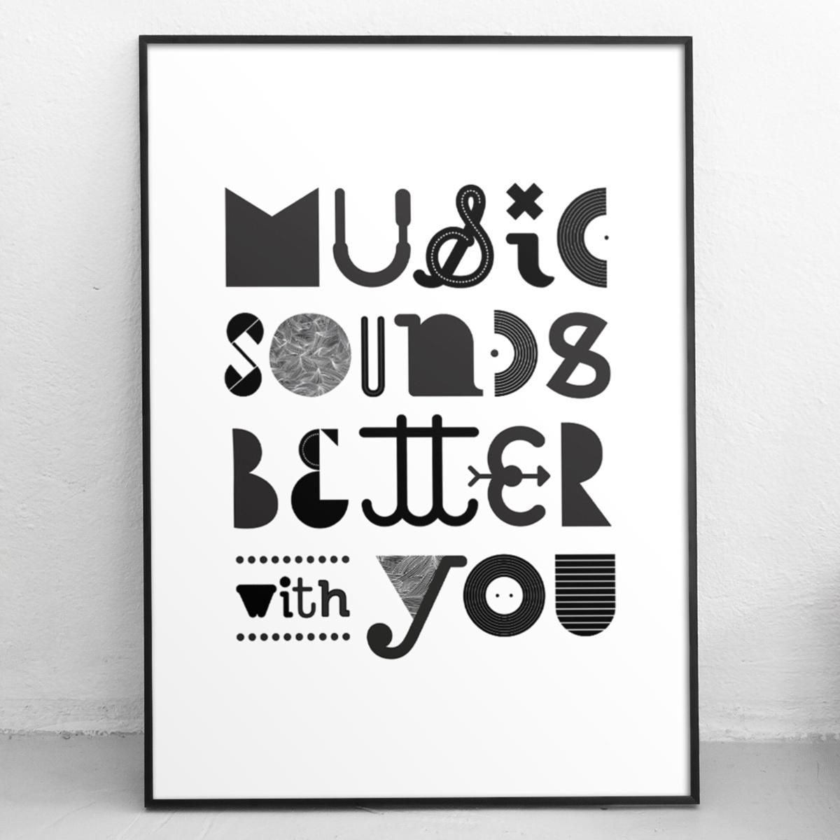 Limited edition poster - typography - llanwafu | ello