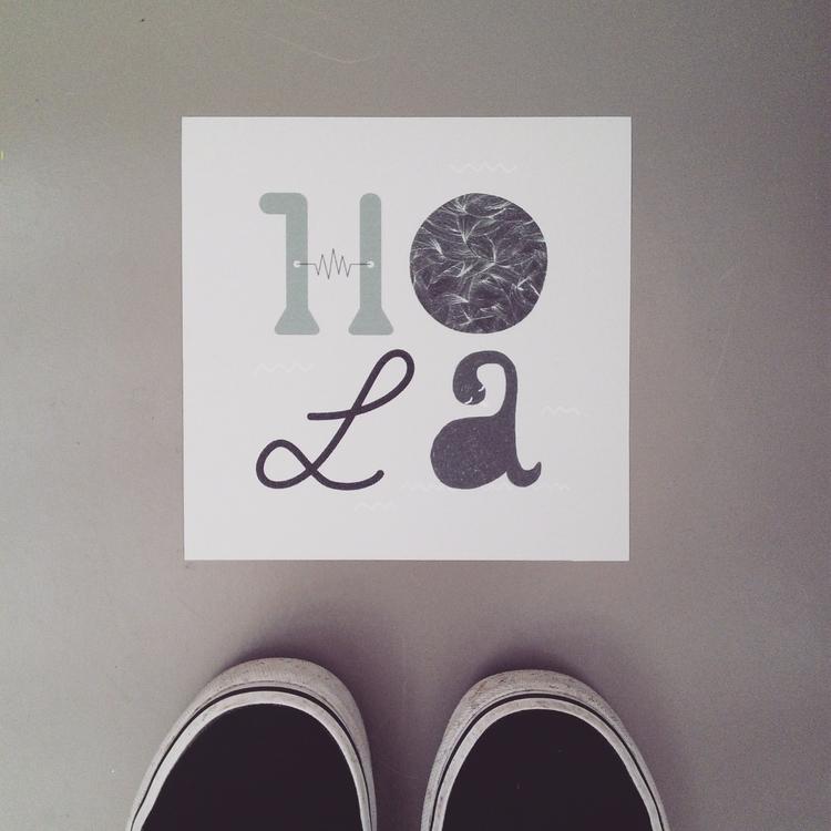 ¡Hola - typography, letters - llanwafu | ello
