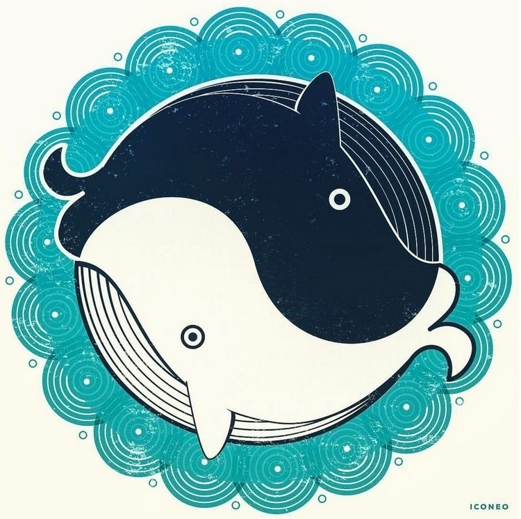 whale whang - harmony, whales, illustration - iconeo | ello