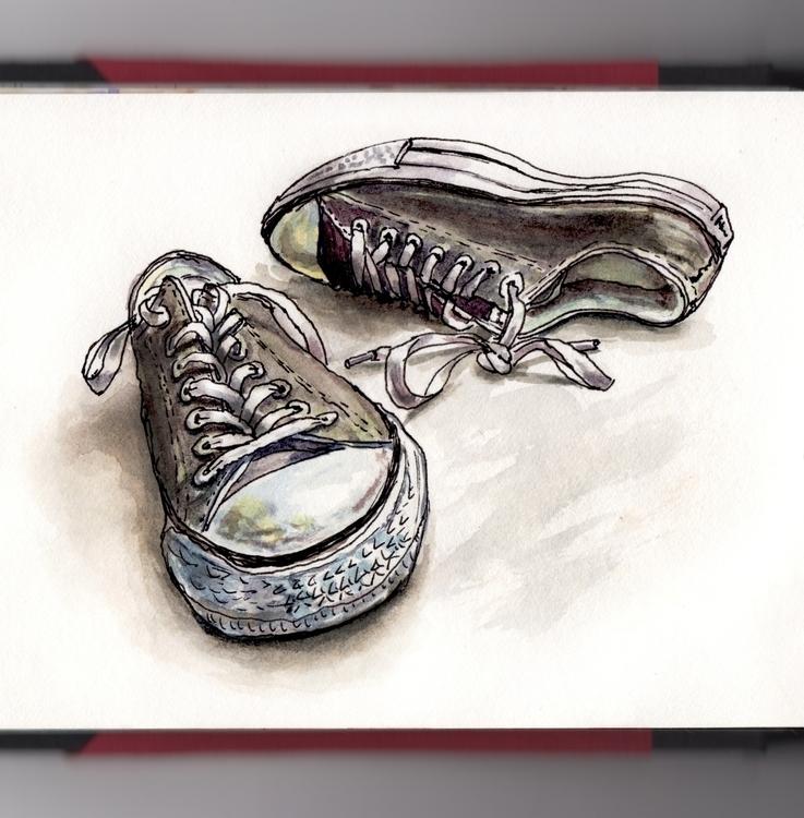 Ordinary Days - watercolor, watercolour - doodlewash | ello
