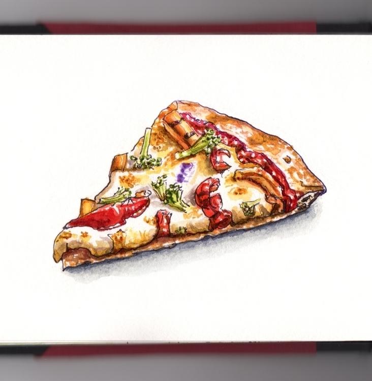 Midnight Snacks - watercolor, watercolour - doodlewash | ello