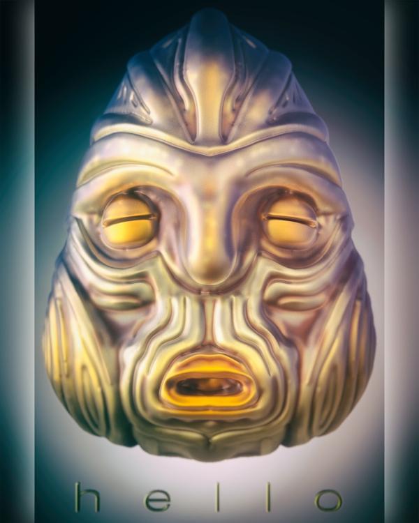 3D, mask, totem, zbrush, keyshot - frank_yunker | ello