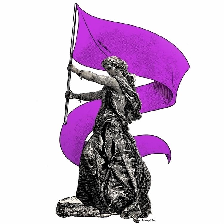 Happy fight day - women, girlpower - celsiuspictor | ello