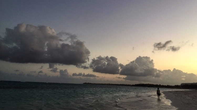 Mother Walking Beach. Beautiful - princeofmud | ello