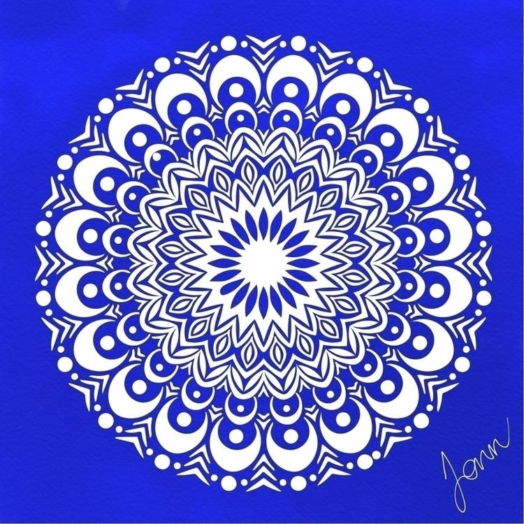 Waning Moon Mandala. Embrace be - sandandsalt   ello