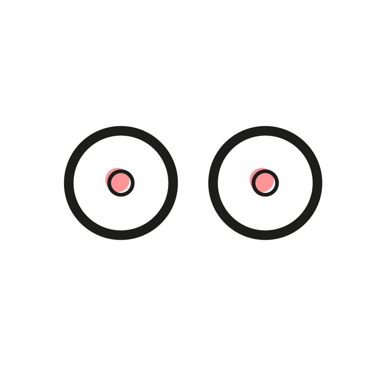 eyes, illustration, icon, minimal - kajaadela | ello
