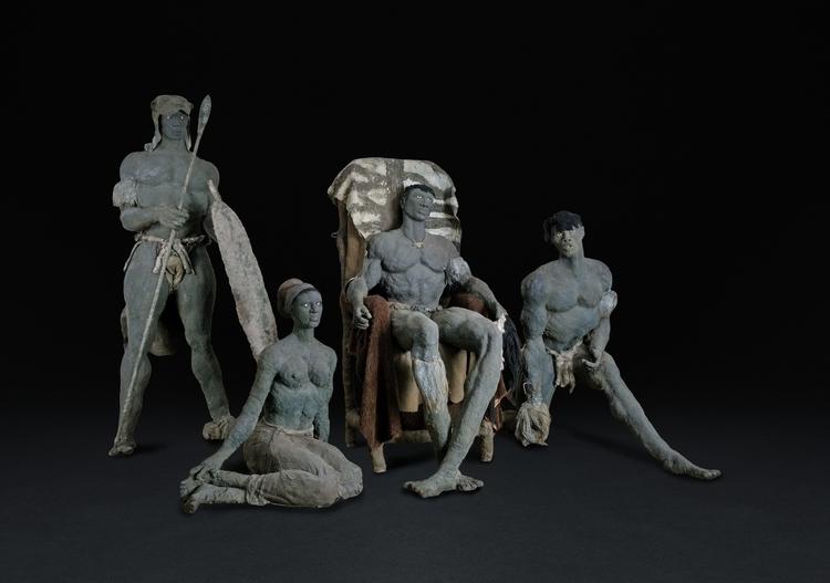 Ousmane Sow Zulus, 1990 Clay, r - blackartmatters | ello