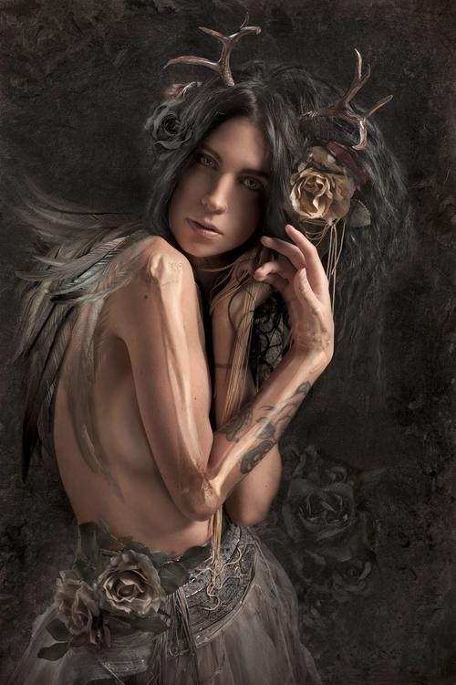 Dark, portrait artist Charmaine - ransom_mitchell   ello