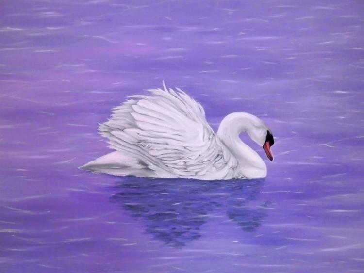 swan, painting, art, prints - fayeanastasopoulou | ello