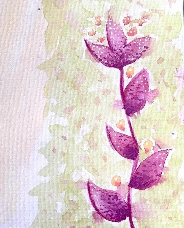 Loosely sketched purple flower - borianag | ello