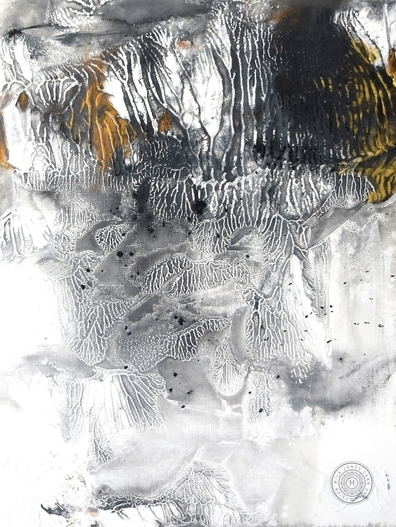 """Interlude II"", 9 12 acrylic, m - milajones | ello"