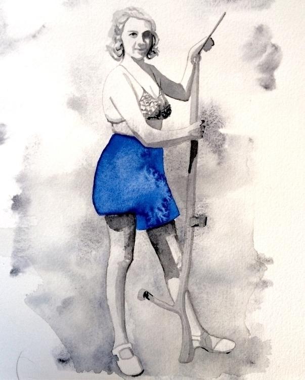 watercolor, akvarell, neutraltint - vasagatan | ello