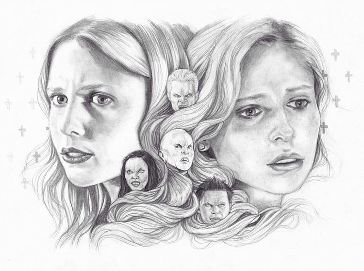 Buffy Vampire Slayer, 20 years  - edithlebeau | ello