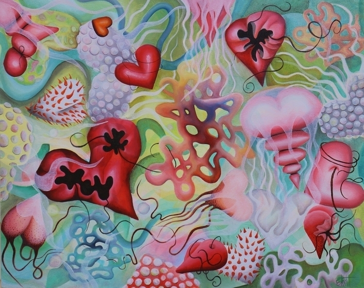 Love Stings 20 25 oil canvas, E - eknightpaintings | ello