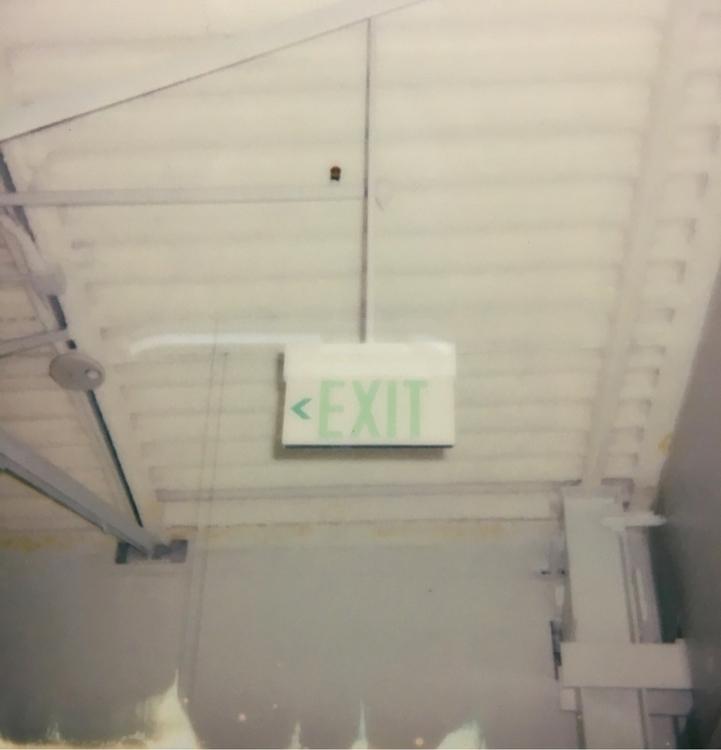 Exit (Green - Polaroid, instantfilm - jkalamarz | ello