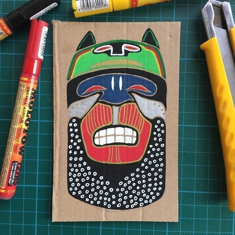 Cardboard fun - illustration, drawing - mariosupa | ello