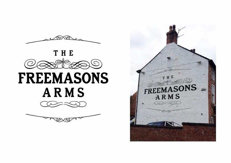 Freemasons Arms pub logo gable  - jamesenjoyrelax | ello