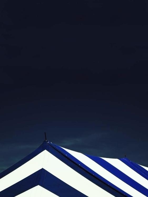 Circus Tent Dark Cobalt Sky - minimal - brookeryan | ello