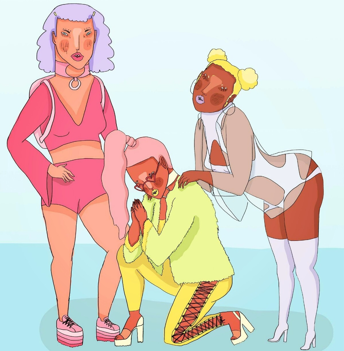 Gurl gang - art, illustration, feminist - missjaws | ello