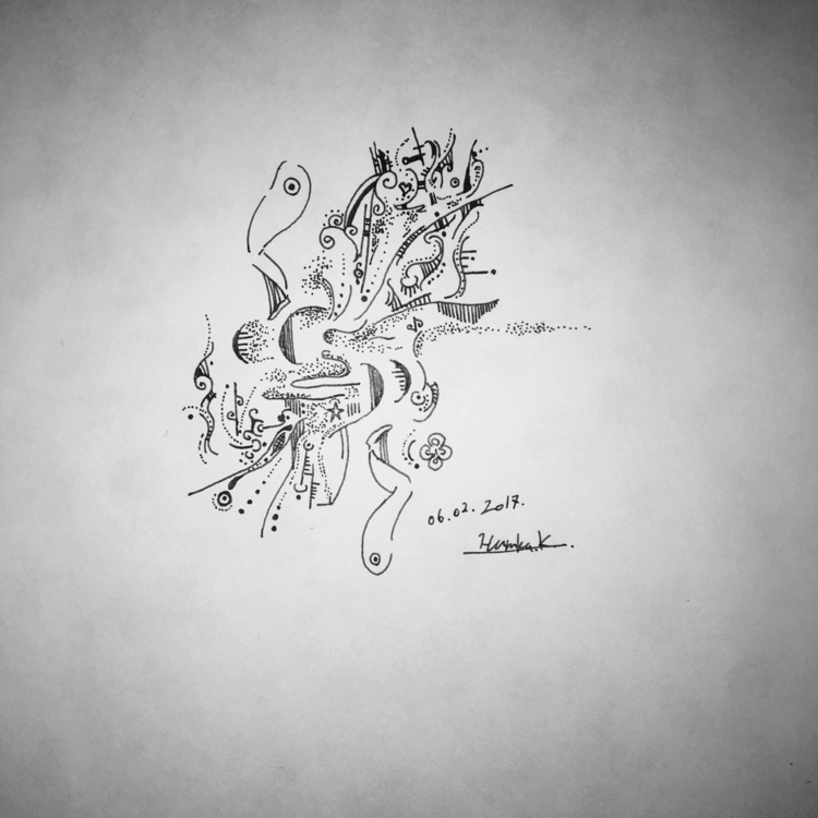 2017. 02 - drawing, pen, abstract - themartiansgirlfriend | ello