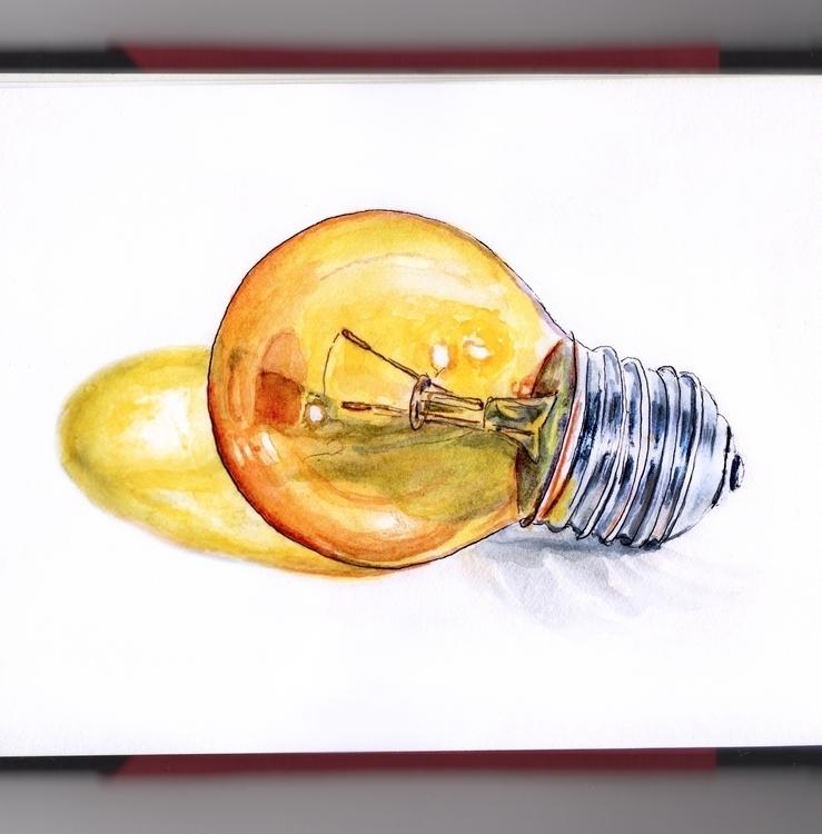 Light Bulb Moments - watercolor - doodlewash | ello