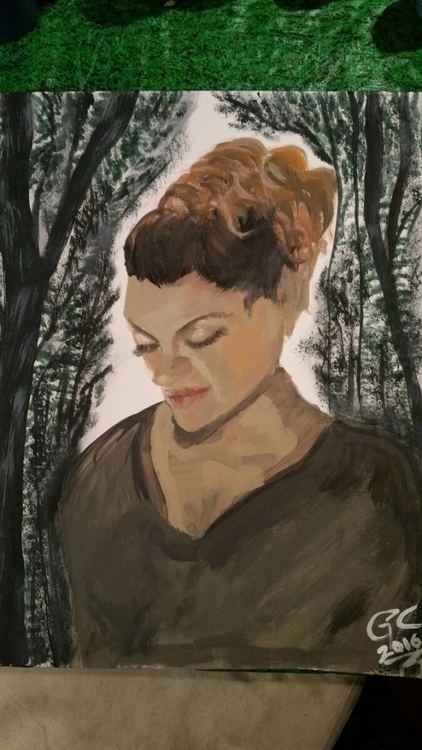 rare painting Portrait friend - sweetkillerbunny | ello