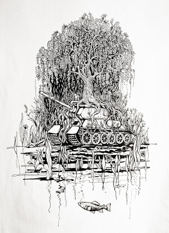 Resile // acrylic + ink cavas 8 - nevaferleza | ello