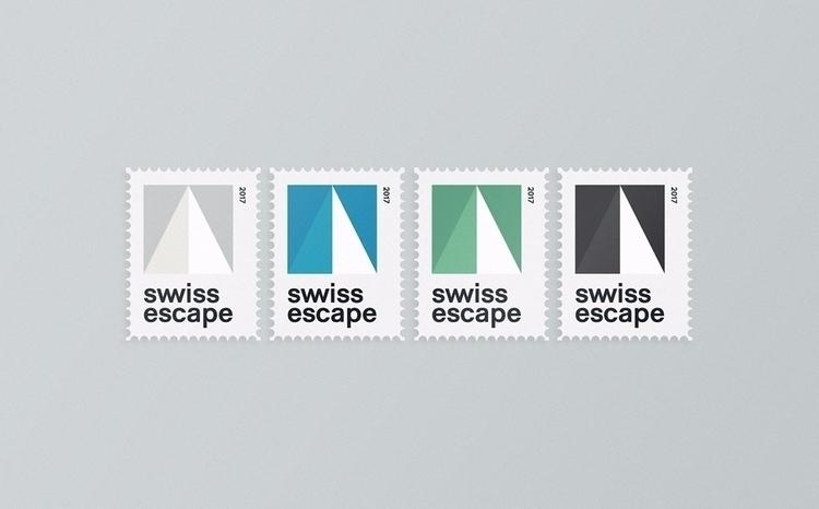 Swiss Escape Stamps Design Full - nastudio | ello