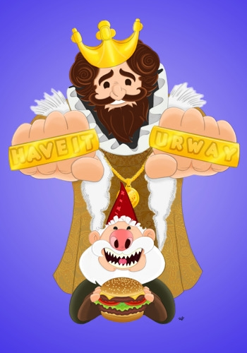 Original Piece King Chomsky Dre - delgado3883 | ello