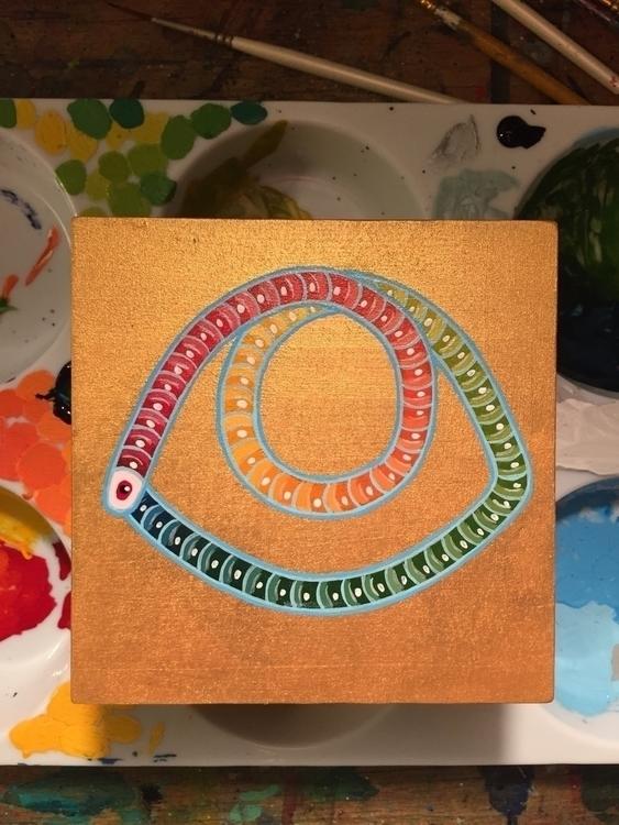 finished, eye, worm, symbol, painting - nathanawoodart | ello