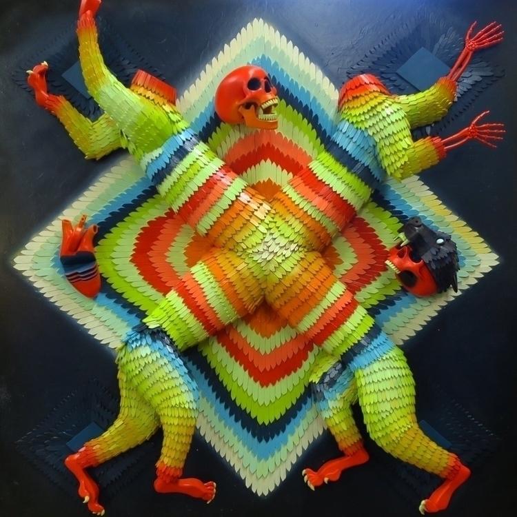 Crossed Tiger Relief - artist - talltreesofportland - helliongallery | ello