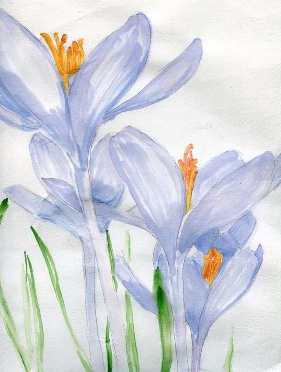 Heralds Spring Watercolor Hosho - havekat | ello
