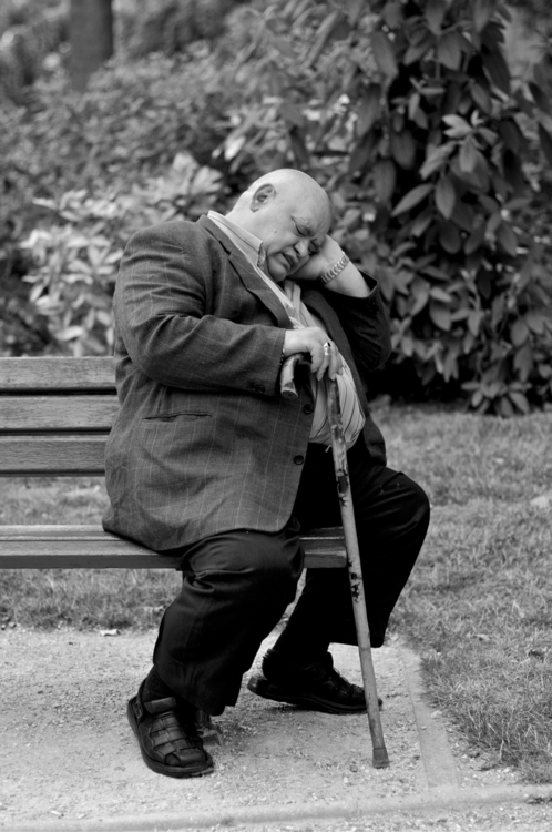 man sleeping park. photo years  - julien_dju   ello