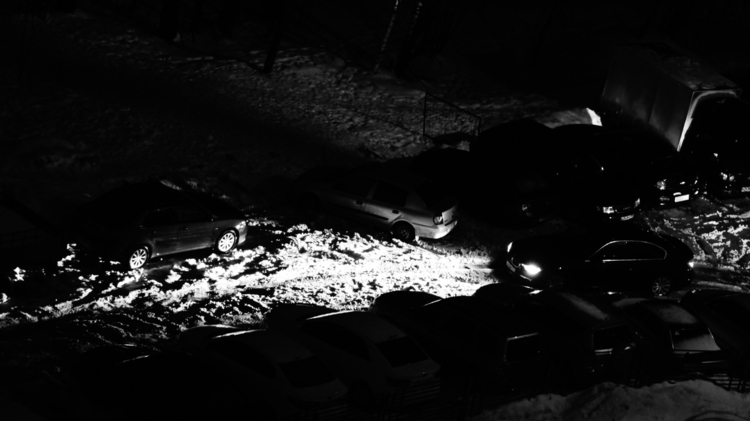 paranoid car dark, stand window - tkachuk | ello