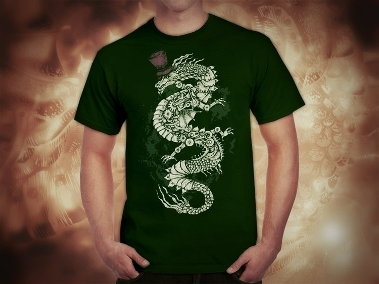 (original design - Dragon, ScreenPrint - akzynth | ello