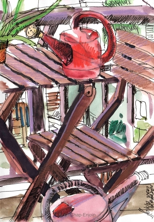 - Watering cans sketch Philippi - artchapenjoin | ello