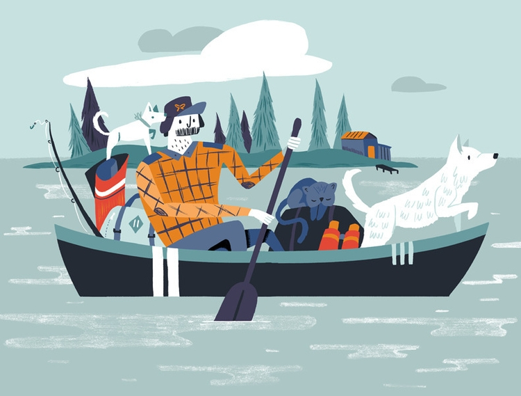 homeward bound - illustration, home - alexander_mostov | ello
