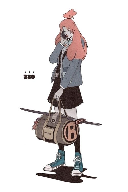 Day 259/365: Trip - illustration - 1sles   ello