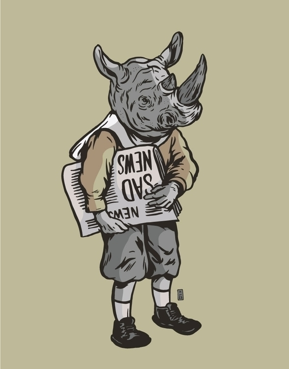 Northern White Rhinos Remain - illustration - thomcat23 | ello